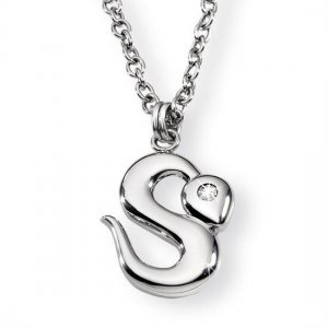 """MADE IN ITALY MORELLATO JEWELRY """"SNAKE"""" NECKLACE WITH PENDANT - UNISEX FASHION JEWEL"""
