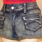 Becca Denim Shorts from dELiAs*  Junior Size 5/6 New Old Stock