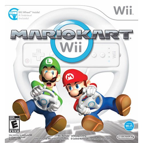 Mario Kart with Wheel for Wii, Free Shipping