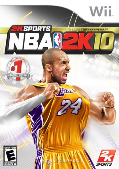 NBA 2K10 for Wii,  FREE SHIPPING