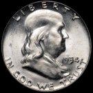 Benjamin Franklin Silver Half Dollar Coin Roll