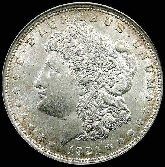 1921 MORGAN Silver Dollar Coin from Philadelphia Mint