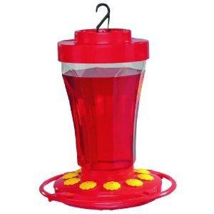 First Nature Mainstays Red Durable Plastic Hummingbird Bird Feeder 32oz 10 Port