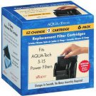 Aqua Tech 5-15 #1 EZ Change Replacement Filter Cartridges For Power Filters 6 Pk