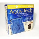 Aqua Tech 5-15 #1 EZ Change Replacement Filter Cartridges For Power Filters 3 Pk