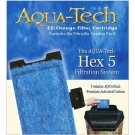 NIB Aqua Tech HEX 5 #5 EZ Change Aquarium Replacement Filter Cartridge 3-pack