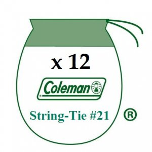 12 Coleman Liquid Fuel Lantern 21 Sock Style String Tie Mantles 3-4 Pack 21A104