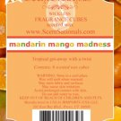 ScentSationals Mandarin Mango Madness Fragrance Scented Wax Melt Cubes Burners