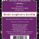 ScentSationals Black Raspberry Vanilla Fragrance Scented Wax Melt Cubes Burners