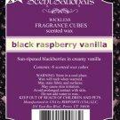 ScentSationals Black Raspberry Vanilla Fragrance Scented Wax Melt Cubes Burners