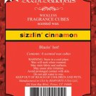 ScentSationals Sizzlin Cinnamon Fragrance Scented Wax Melt Cubes for Burners