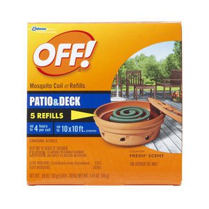 NEW Johnson OFF Mosquito Coil Refills 5 count Insect Repellent Last 4 Hours Each