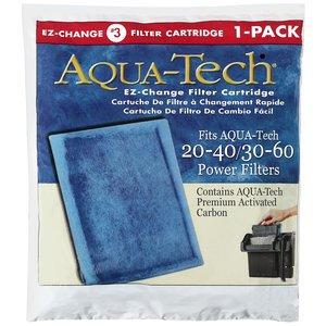 NIB Aqua Tech EZ-Change #3 Aquarium 20/40-30/60 Pump Filter Cartridge 1 pack