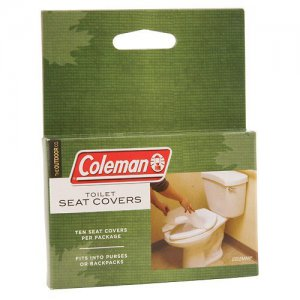 NEW Coleman Toilet Seat Covers 10 pack Compact Protection Travel Camping Hiking