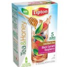NEW Lipton To Go Stix Iced Black Tea Mix Tea and Honey Black Currant Raspberry