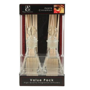 Elegant Expressions by Hosley Apple Cinnamon Fragrance Reed Oil Diffuser 2Pk