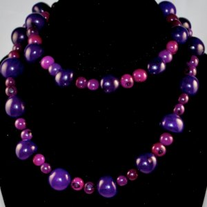 Handmade Purple Seeds Beaded Sassy Necklace