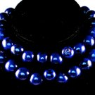 Handmade Blue Seeds Beaded Single Strand Necklace