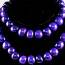 Handmade Purple Seeds Beaded Single Strand Necklace
