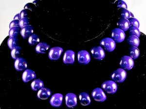 Handmade Purple Seeds Beaded Single Strand Necklace