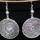 Sterling Silver Drop Filigree Gypsy Crocheted Earrings
