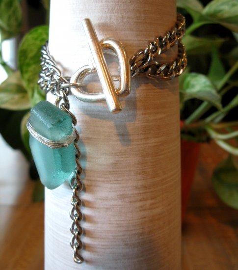 Chain with Polished Glass Bracelet