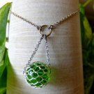 Green Mesh Bead Necklace