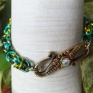 Varied Green Byzantine Chainmaille Bracelet