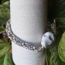 Howlite Skull Byzantine Chainmaille Bracelet