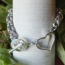 Silver Heart Byzantine Chainmaille