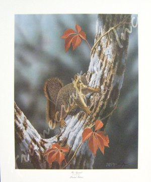 """Fox Squirrel"" by Ronald J. Louque 24x20"