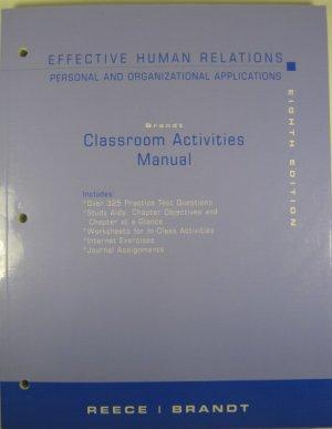 Effective Human Relation Classroom Activities Manual Reece Brandt