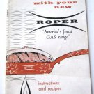 Roper Carefree Cooking Instructions and Recipes