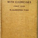 Prose Selections with Excercises First Year M. Alderton Pink