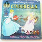 Disney's Cinderella Book and Record Set 33 1/3 RPM