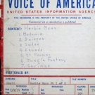 Herbie Mann Recording Reel to Reel Voice of America 1959