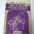 John W. Schaum Piano Course Book C D E Three Books