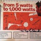 Radio Shack From 5 Watts to 1000 Watts Amateur Radio Book 1974