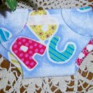 Doll Diaper Adjustable Flannel Velcro