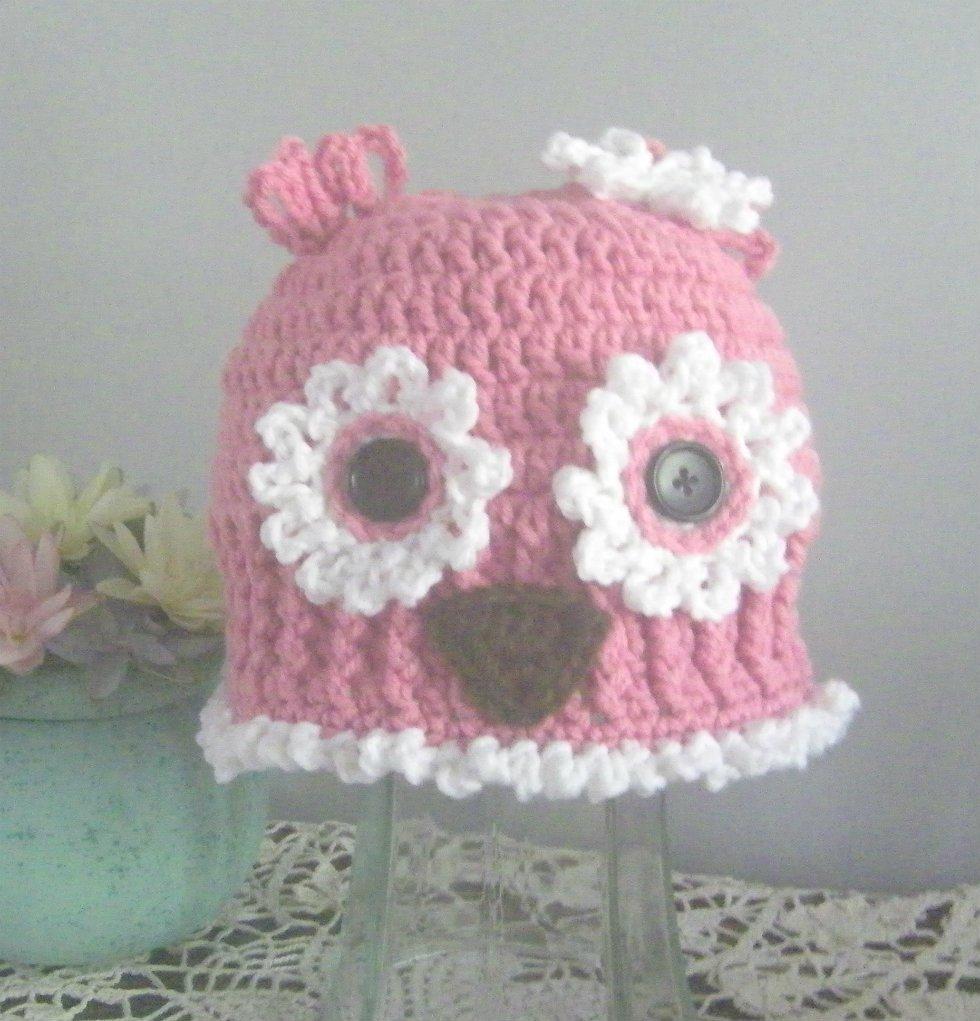 Owl Hat Loopy Loop Childs Handmade Owl Hat