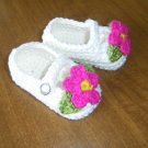 Baby Girl Mary Janes Booties Crochet Cotton Shoes Handmade Infant Shoes Baby Crib Shoes Baby Booties