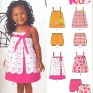 Girls Pattern Toddler 5 Sizes Top Dress Bloomers New Look 6114 Summer Clothes