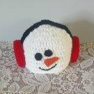 Snowman Hat Winter Handmade Snowman with Earmuffs Crocheted Hats Unisex