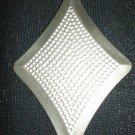 #P009 - Silvertone Diamond Shaped Pin