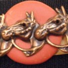 #P017 - Three Horse Head Pin