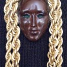 #P022 - Brown Face Mask Pin