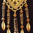 #P025 - Antique Goldtone and Black Pin