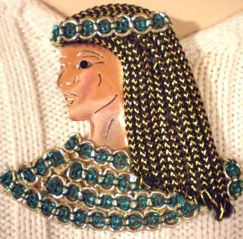 #P033 - Copper Cleopatra Pin
