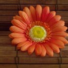 Orange Gerbera Daisy Salon Clip