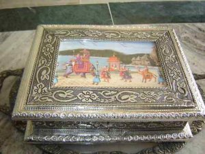 GERMANSILVERJEWELCASE,HANDCRAFTED,ANTIQUE LOOK,,OXIDIZE